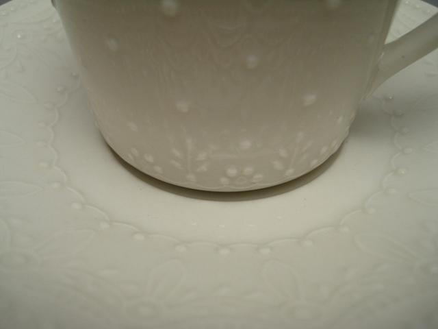 Arabia 100th Anniversary Cup & Saucer ivory