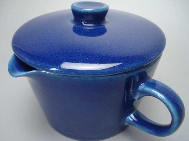 Arabia Kilta Creamer with Lid blue