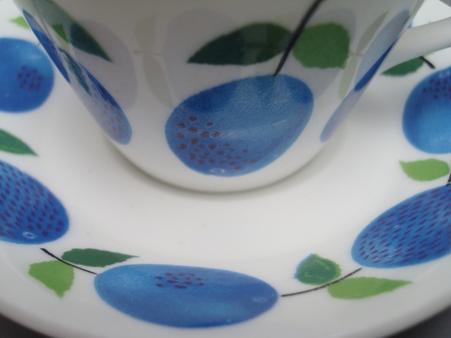 Gustavsberg Prunus Coffee Cup & Saucer
