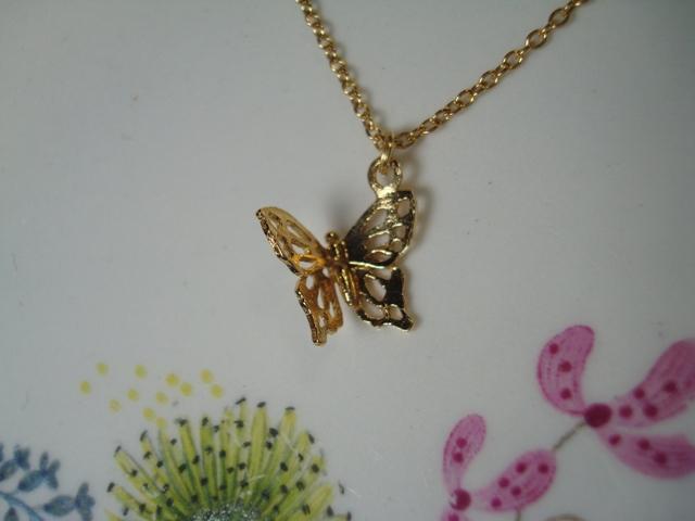 ALEX MONROE Little Filigree Butterfly Necklace