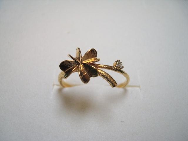 ALEX MONROE Baby Clover Ring