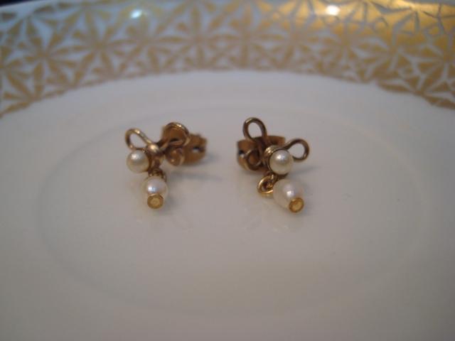 Eric et Lydie Arabesk Pierced Earrings ABO2 (gold)