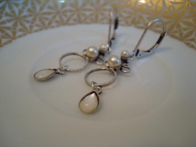 Eric et Lydie Arabesk Pierced Earrings ABO4 (silver)