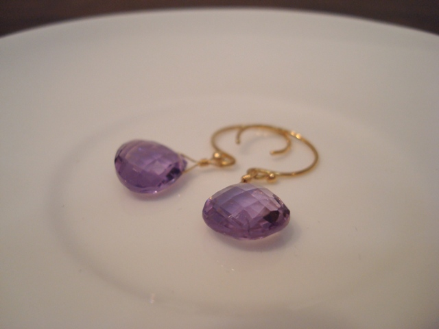 Flavie Furst Single Stone Earrings Amethyst