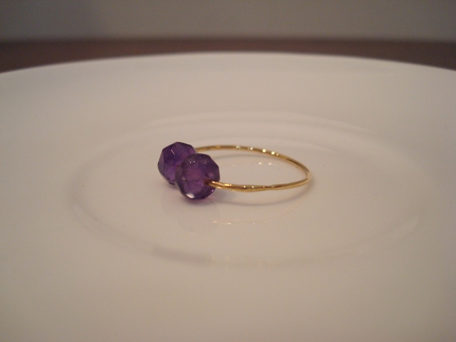 Flavie Furst Double Beads Ring Amethyst