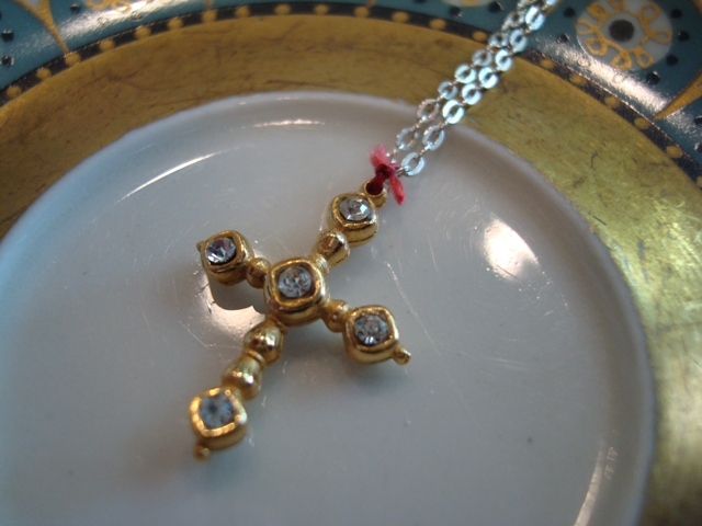Corpus Christi W11 Crystal Cross Necklace